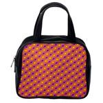 Vibrant Retro Diamond Pattern Classic Handbags (One Side)