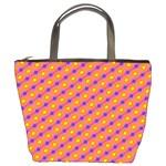 Vibrant Retro Diamond Pattern Bucket Bags