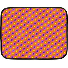 Vibrant Retro Diamond Pattern Fleece Blanket (mini) by DanaeStudio