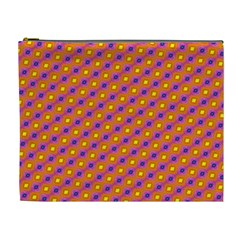 Vibrant Retro Diamond Pattern Cosmetic Bag (xl) by DanaeStudio