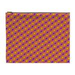 Vibrant Retro Diamond Pattern Cosmetic Bag (XL)