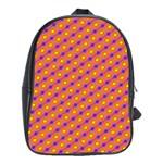 Vibrant Retro Diamond Pattern School Bags(Large)