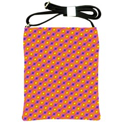 Vibrant Retro Diamond Pattern Shoulder Sling Bags by DanaeStudio