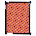 Vibrant Retro Diamond Pattern Apple iPad 2 Case (Black)