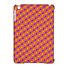 Vibrant Retro Diamond Pattern Apple Ipad Mini Hardshell Case (compatible With Smart Cover) by DanaeStudio