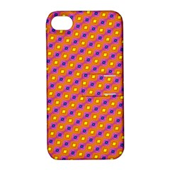 Vibrant Retro Diamond Pattern Apple Iphone 4/4s Hardshell Case With Stand by DanaeStudio