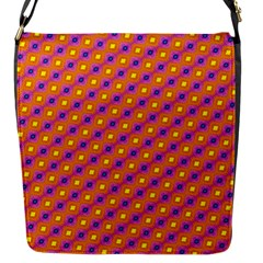 Vibrant Retro Diamond Pattern Flap Messenger Bag (s) by DanaeStudio