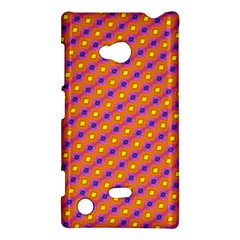 Vibrant Retro Diamond Pattern Nokia Lumia 720 by DanaeStudio