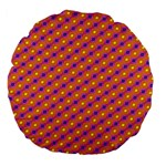 Vibrant Retro Diamond Pattern Large 18  Premium Flano Round Cushions