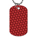 Red Passion Floral Pattern Dog Tag (One Side)