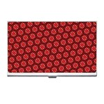 Red Passion Floral Pattern Business Card Holders