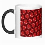 Red Passion Floral Pattern Morph Mugs