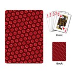Red Passion Floral Pattern Playing Card