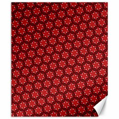Red Passion Floral Pattern Canvas 8  X 10  by DanaeStudio