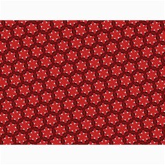 Red Passion Floral Pattern Canvas 12  X 16   by DanaeStudio