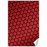 Red Passion Floral Pattern Canvas 12  x 18