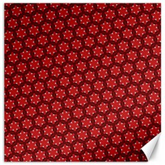 Red Passion Floral Pattern Canvas 16  X 16   by DanaeStudio