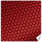 Red Passion Floral Pattern Canvas 16  x 16