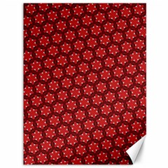 Red Passion Floral Pattern Canvas 36  X 48   by DanaeStudio
