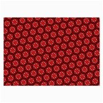 Red Passion Floral Pattern Large Glasses Cloth