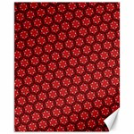 Red Passion Floral Pattern Canvas 11  x 14