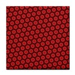Red Passion Floral Pattern Face Towel