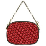 Red Passion Floral Pattern Chain Purses (Two Sides)