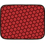 Red Passion Floral Pattern Fleece Blanket (Mini)