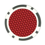 Red Passion Floral Pattern Poker Chip Card Guards (10 pack)
