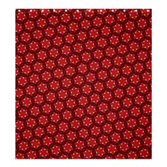 Red Passion Floral Pattern Shower Curtain 66  X 72  (large)  by DanaeStudio