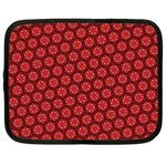 Red Passion Floral Pattern Netbook Case (XL)