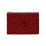 Red Passion Floral Pattern Cosmetic Bag (Medium)