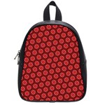 Red Passion Floral Pattern School Bags (Small)