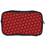 Red Passion Floral Pattern Toiletries Bags 2-Side