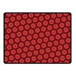 Red Passion Floral Pattern Fleece Blanket (Small)