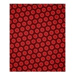 Red Passion Floral Pattern Shower Curtain 60  x 72  (Medium)