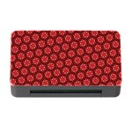 Red Passion Floral Pattern Memory Card Reader with CF