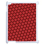 Red Passion Floral Pattern Apple iPad 2 Case (White)