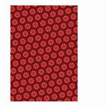 Red Passion Floral Pattern Large Garden Flag (Two Sides)