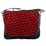 Red Passion Floral Pattern Messenger Bags