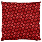Red Passion Floral Pattern Large Cushion Case (Two Sides)