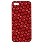 Red Passion Floral Pattern Apple iPhone 5 Hardshell Case