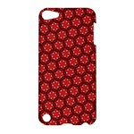 Red Passion Floral Pattern Apple iPod Touch 5 Hardshell Case