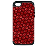 Red Passion Floral Pattern Apple iPhone 5 Hardshell Case (PC+Silicone)