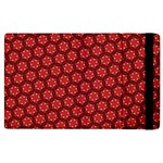 Red Passion Floral Pattern Apple iPad 3/4 Flip Case