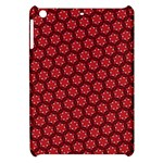 Red Passion Floral Pattern Apple iPad Mini Hardshell Case