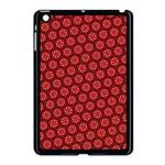 Red Passion Floral Pattern Apple iPad Mini Case (Black)