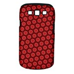 Red Passion Floral Pattern Samsung Galaxy S III Classic Hardshell Case (PC+Silicone)