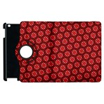 Red Passion Floral Pattern Apple iPad 3/4 Flip 360 Case
