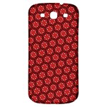 Red Passion Floral Pattern Samsung Galaxy S3 S III Classic Hardshell Back Case